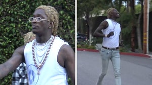 Young Thug Makes Friend Run for His Money