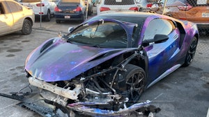 NFL Star Josh Jacobs Crash Photos Show $160K Supercar Mangled After Vegas Accident