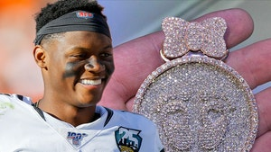 NFL's D.J. Chark Honors Daughter On The Way With Diamond Chain, Baby Chark!