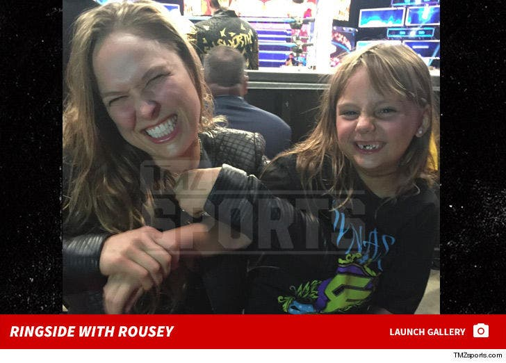 Ronda Rousey -- Ringside With 6 Year Old Fan