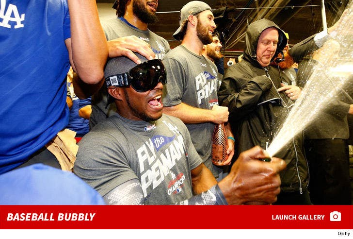 Dodgers Celebrate NLCS Win With Champagne Showers