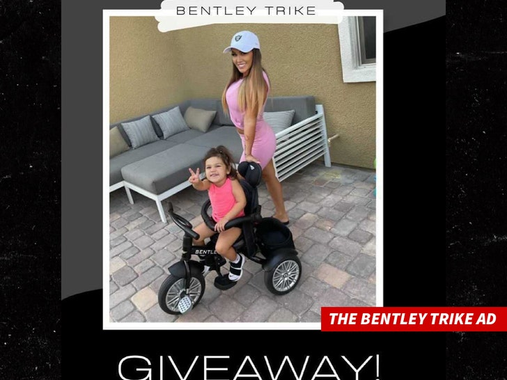 Jenn Harley bentley trike ad