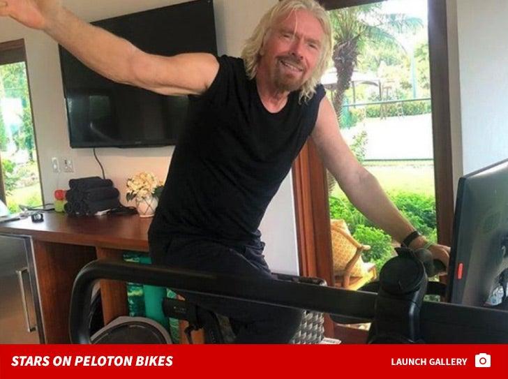 Stars on Peloton Bikes