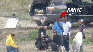 Kanye West Directs Video Shoot on His Wyoming Ranch