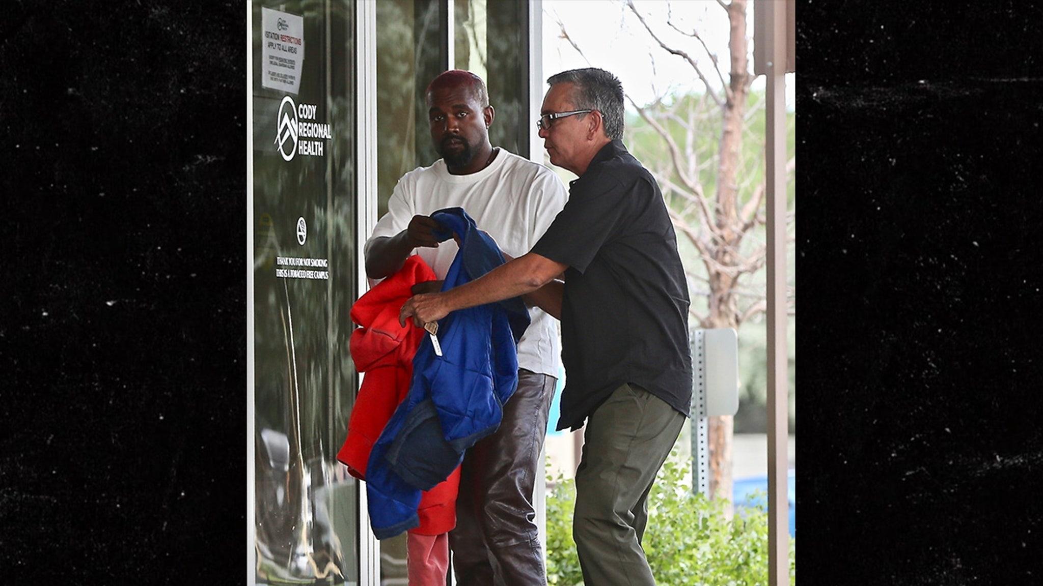 Kanye West Visits Hospital as Ambulance…