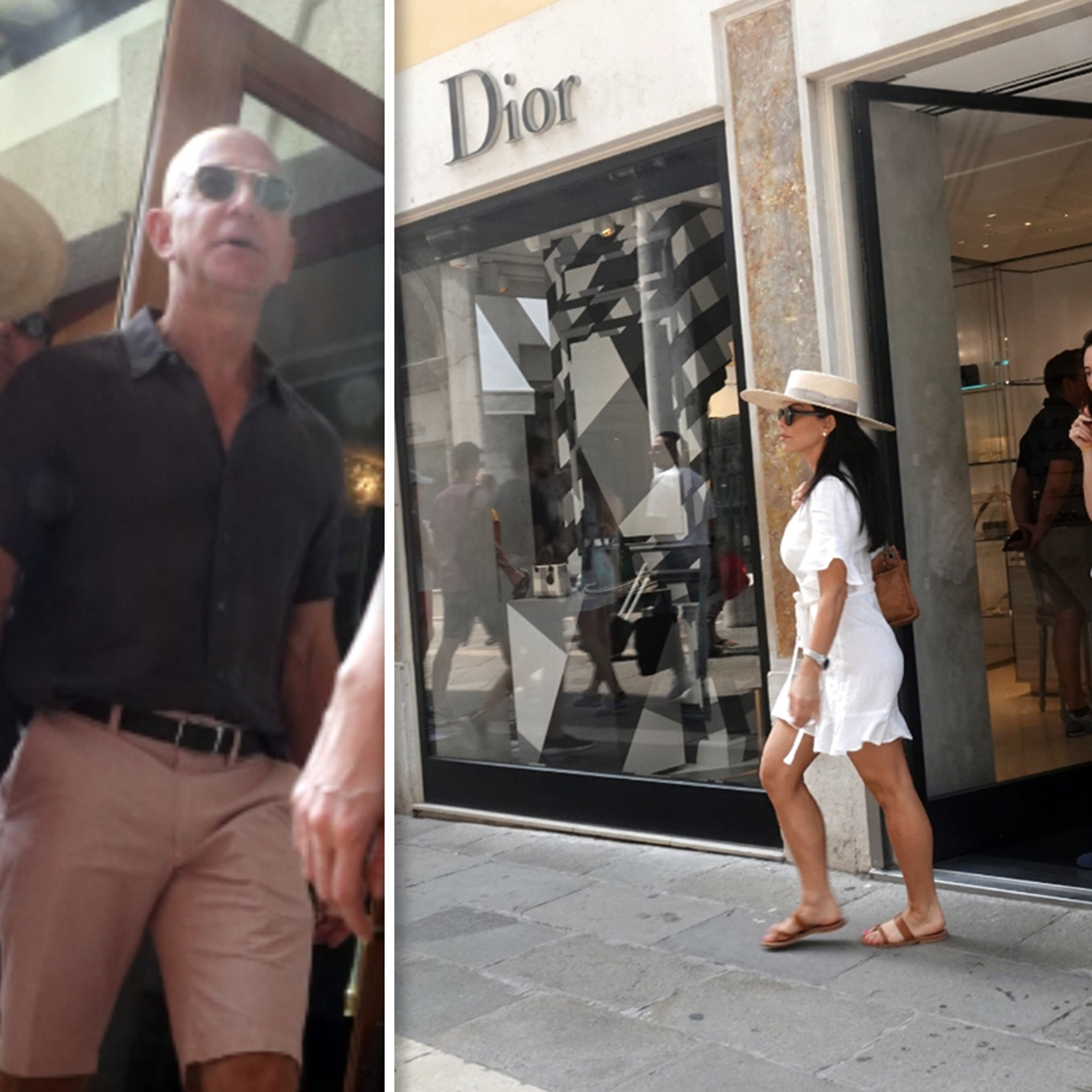 Jeff Bezos and GF Lauren Sanchez Spare No Expense Shopping in Venice