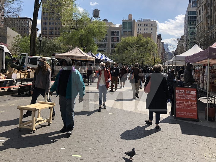Union Square Farmer's Market Crowds