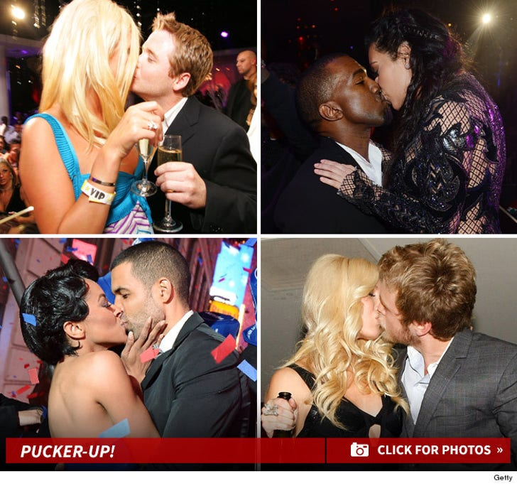 Pucker Up! Celebrity New Year's Kisses!
