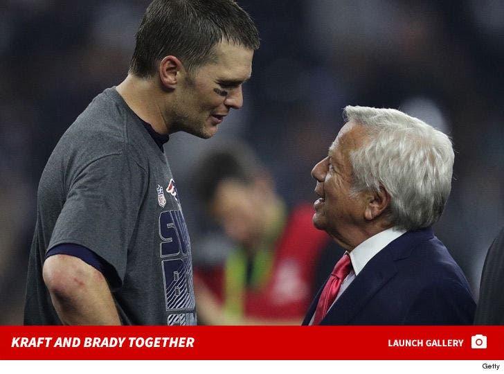 Robert Kraft and Tom Brady Together
