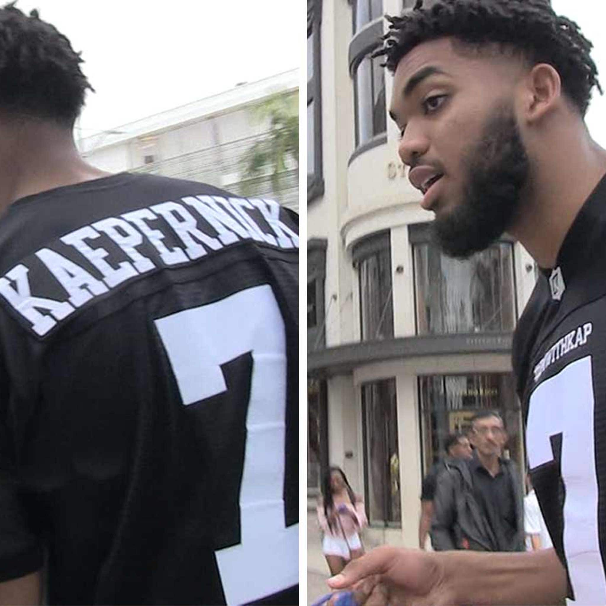 52eec84bb NBA's Karl-Anthony Towns, 'Colin Kaepernick's the Man'