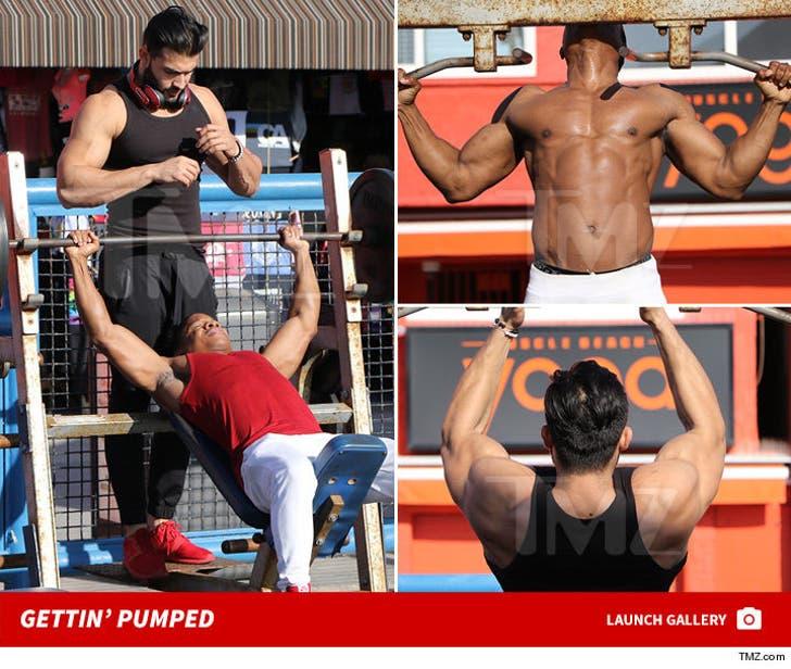 Sam Ashgari and Sam Jones III -- Puttin' The MUSCLES in Muscle Beach