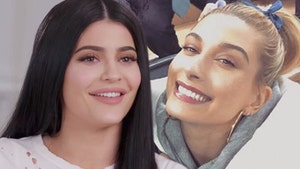 Kylie Jenner and Hailey Bieber Were All Business on Valentine's Day