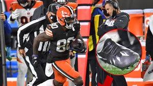 NFL's Jarvis Landry Honors Chadwick Boseman W/ Custom 'Black Panther' Cleats