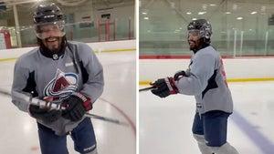 Marshawn Lynch Goes Full Beast Mode On Ice Hockey Rink, 'Shawn Gretzky!'