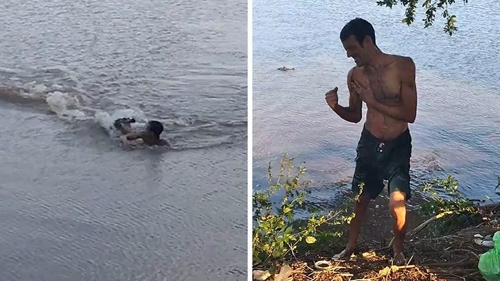 Alligator Chases Down Brazilian Swimmer, Takes a Bite!.jpg