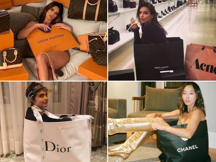 Babes In Bags -- Shop Til You Drop!