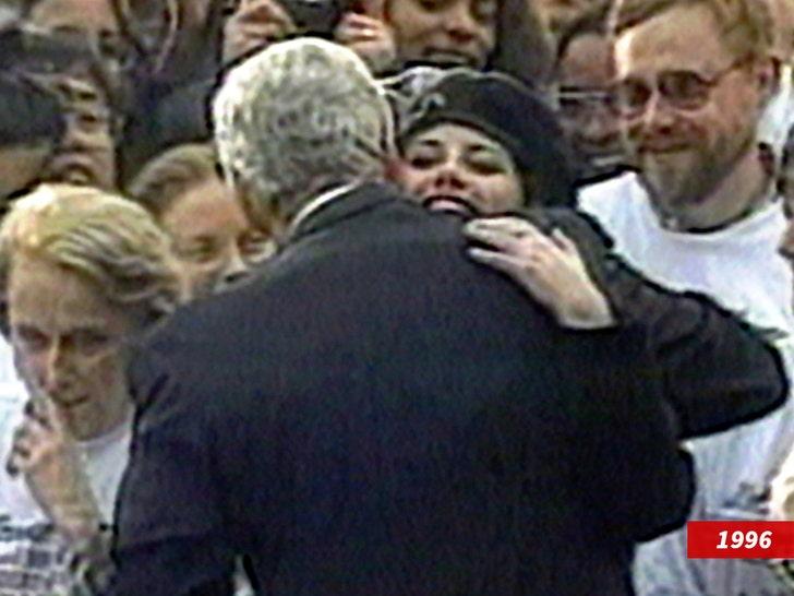 bill clinton hugging monica