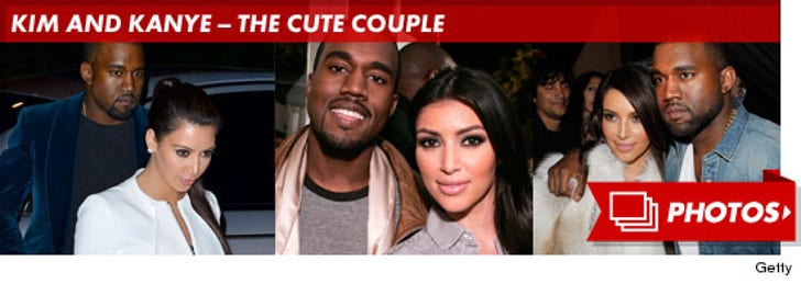 Kim and Kanye -- The Cute Couple