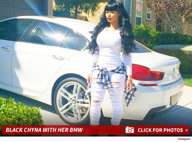 Blac Chyna With Her BMW
