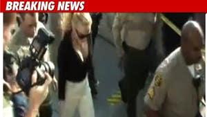 Lindsay Lohan's Court Get-Up -- Very Black & White