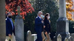 Joe Biden Visits Gravesite of Son, Beau, After Attending Church