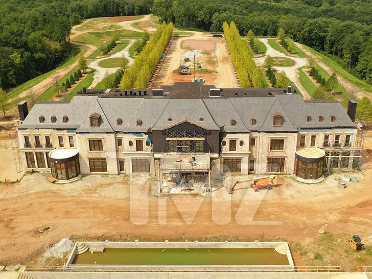 Tyler Perry's New Mansion -- Under Construction