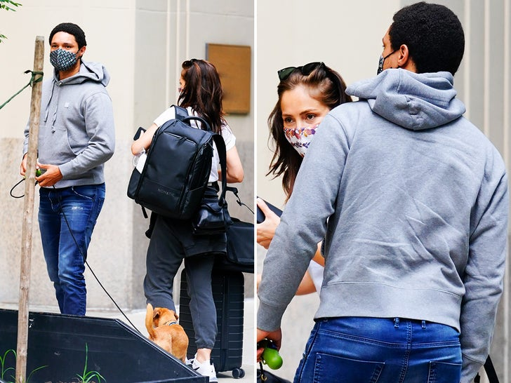 Trevor Noah and Minka Kelly Out in NYC