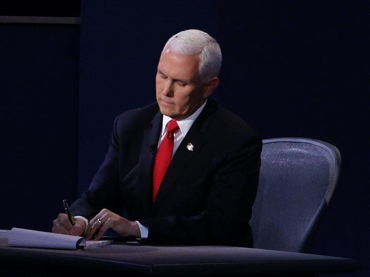 Mike Pence Buggin' Out At Debates