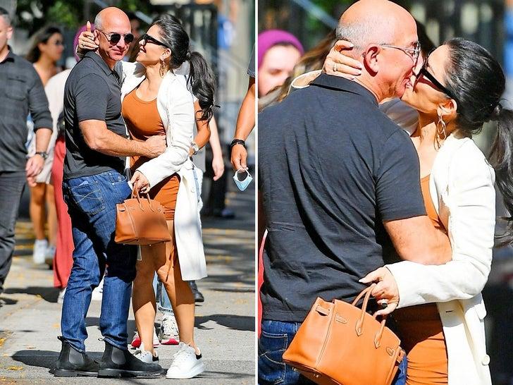 Jeff Bezos, GF Lauren Sanchez Pack On PDA on NYC Walk.jpg