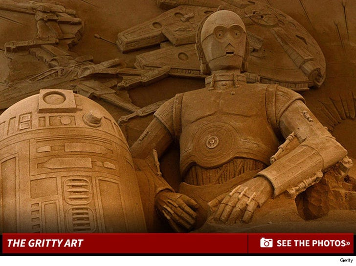 Star Wars Sand Sculpture -- Tusken Raiders Approved!