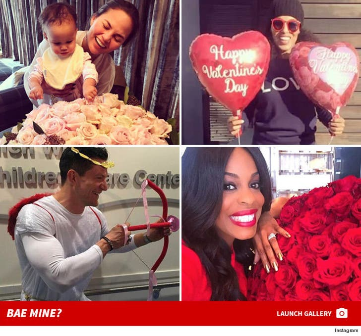 Celebrity Valentine's Day Shots
