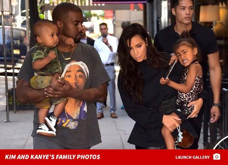 Kanye West and Kim Kardashian's Family Photos