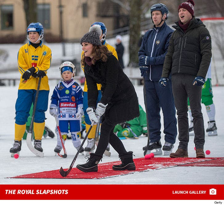 Prince William and Kate Middleton -- Royal Slapshots in Sweden