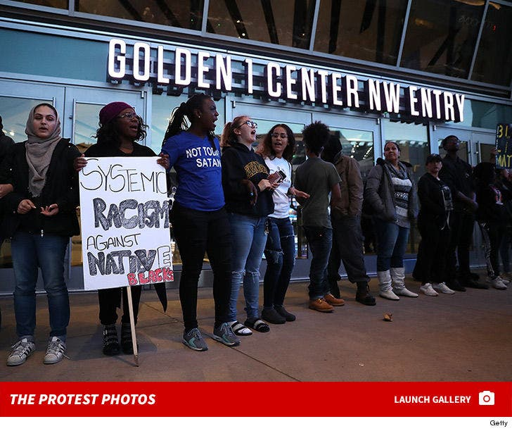 Black Lives Matter Protest at Sacramento King's Stadium
