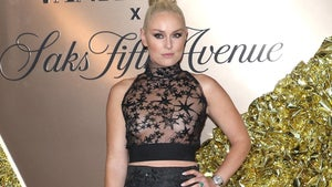 Lindsey Vonn Rocks See-Through Shirt To Vanity Fair Party