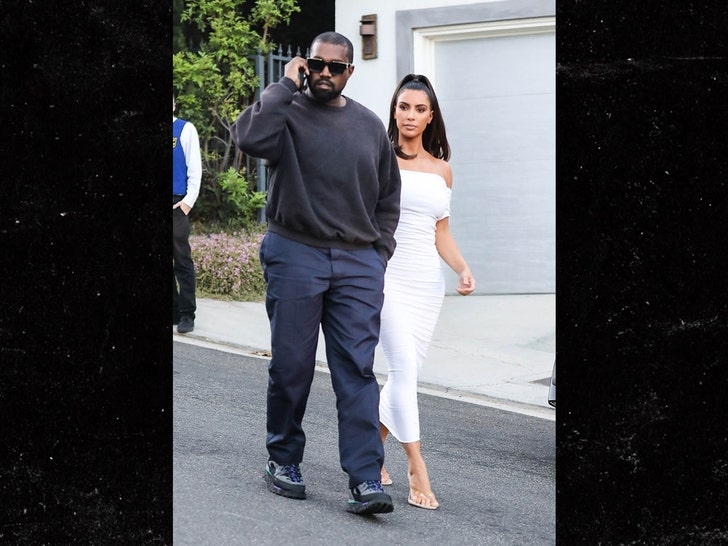 Kim K & Kanye West Roll Up in Lambos with Kids, Party w/ Brad Pitt