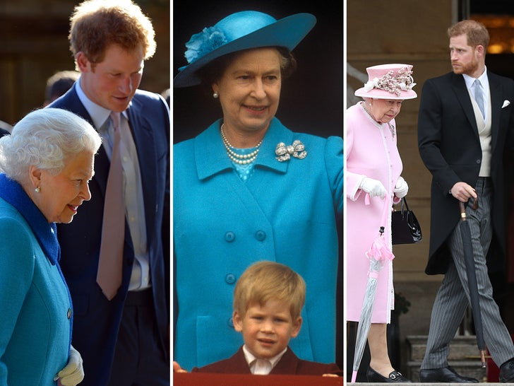 The Queen And Prince Harry Through The Years