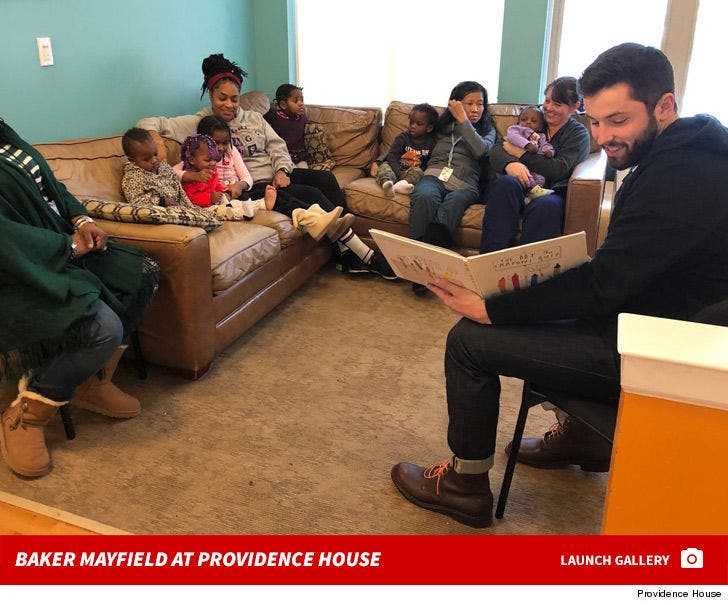 Baker Mayfield at Providence House