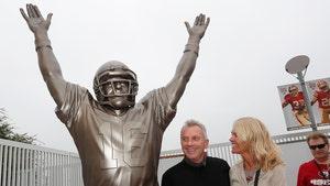 Joe Montana Statue Vandalized After 49ers Loss, Suspect Arrested
