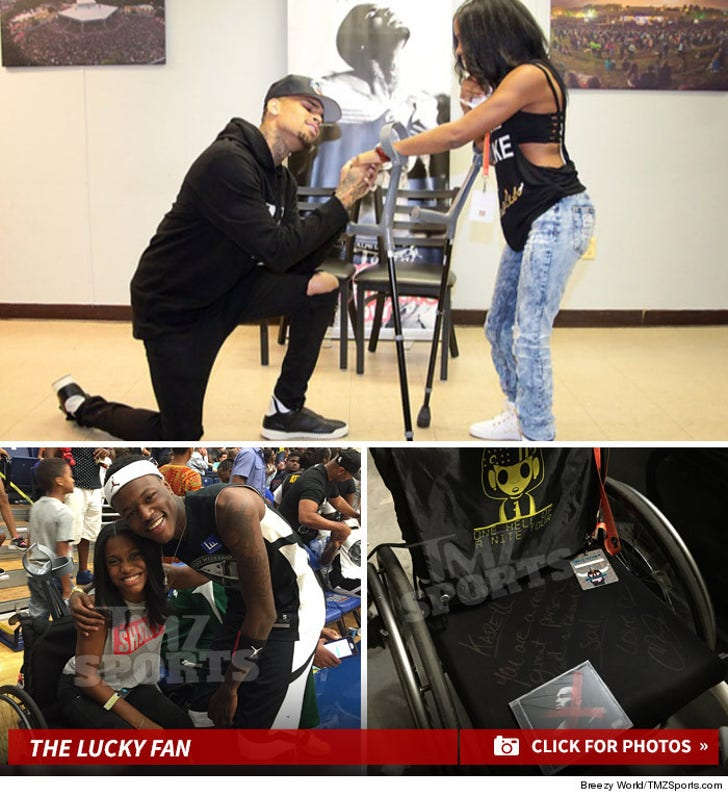 Chris Brown Gives VIP Treatment to Lucky Fan
