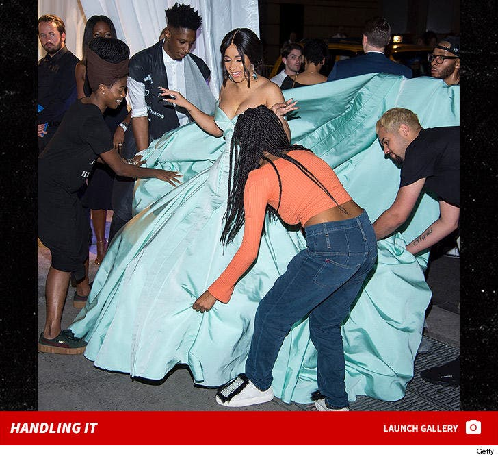 Cardi B's Diamond Ball Dress -- Too Much To Handle