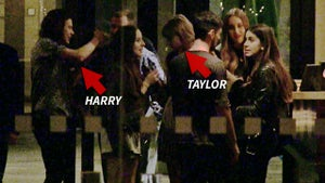 Taylor Swift -- Shakes Off Harry Styles During Icy Encounter