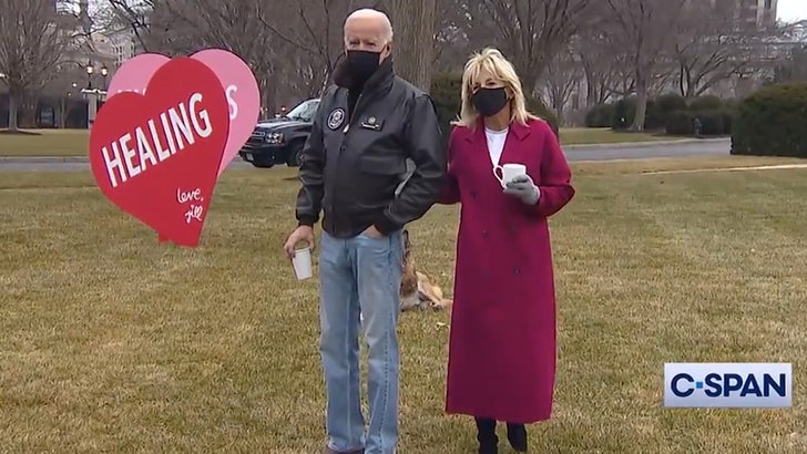 Dr. Jill Biden's Valentine to America Front and Center on White House Lawn