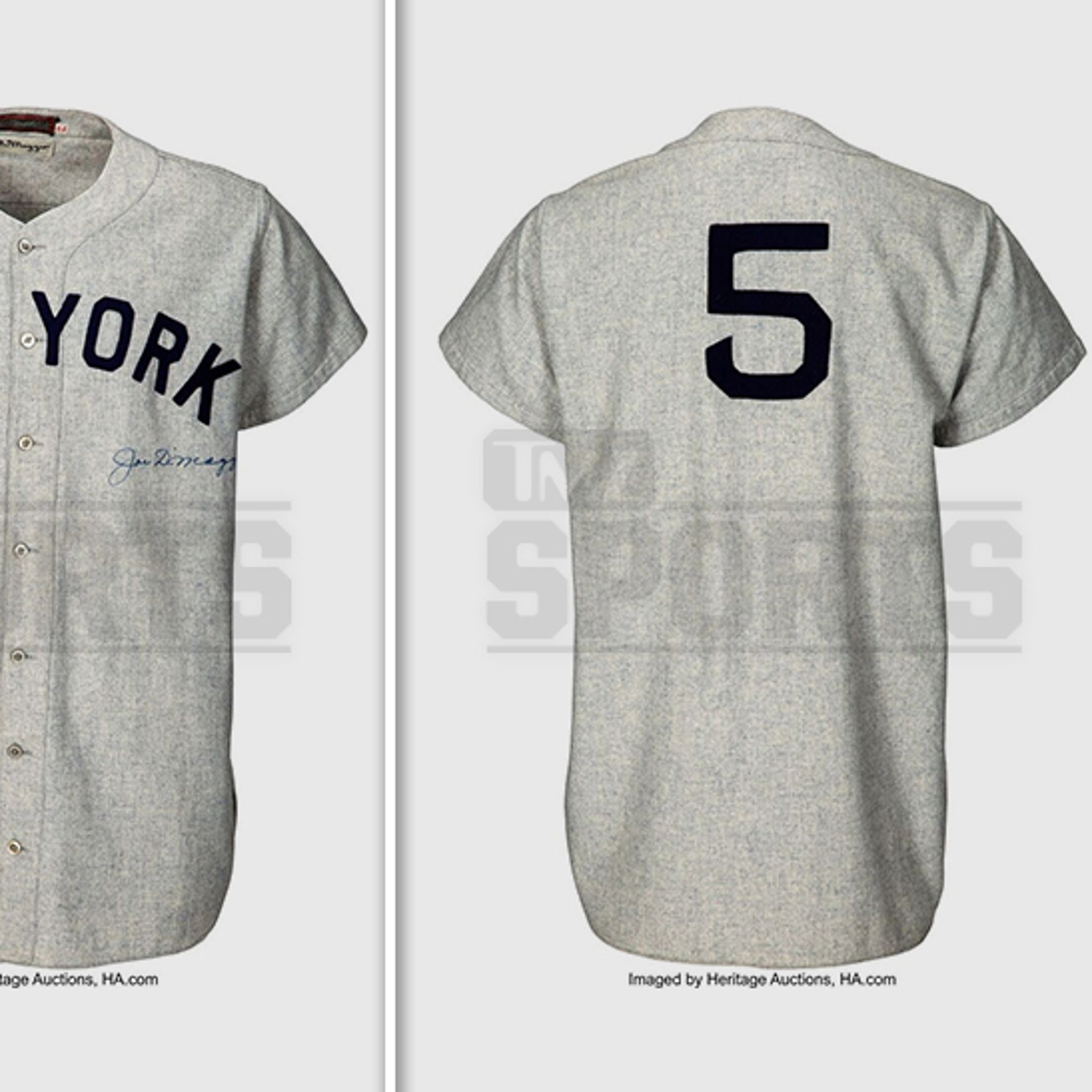 differently 97bd7 2b095 Joe DiMaggio Signed World Series Jersey Expected To Sell For ...