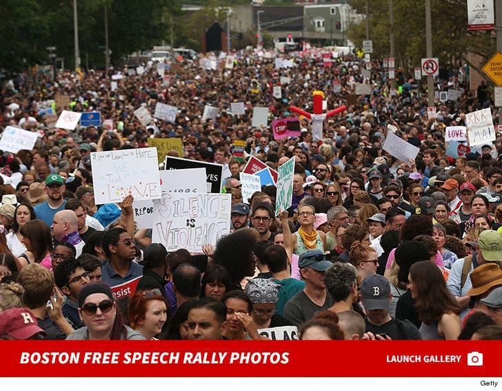 Boston Free Speech Rally Photos