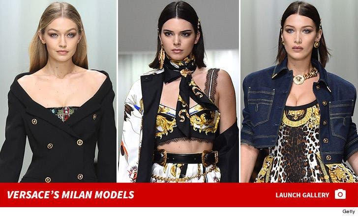 Versace Models at Milan Fashion Week
