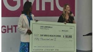 Lampanelli's GIANT $50K Check -- Suck it, Hate Church
