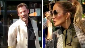 Ben Enjoys a Smoke & Chat with Fans While Touring the Bronx with J Lo