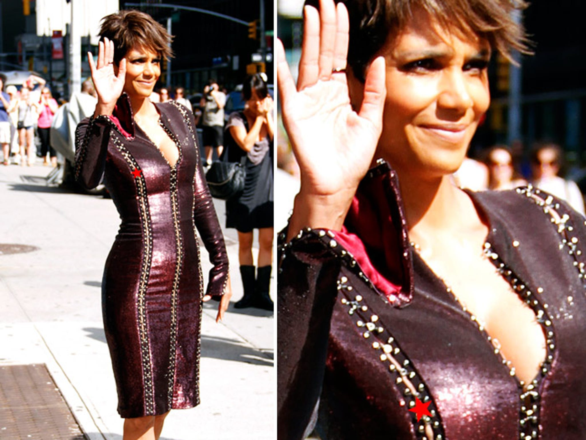 Halle Berry Nip Slip Slippery Nipple Photos