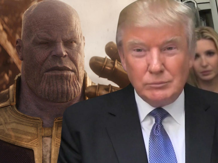 Donald Trump's ad comparing himself to Thanos is 'sick', says supervillain's creator
